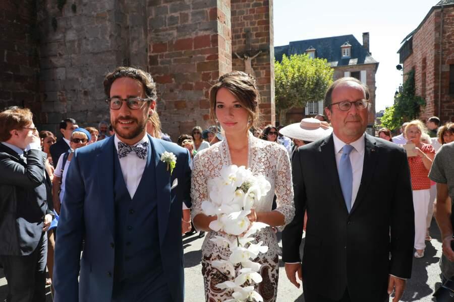 Thomas Hollande, Emilie Broussouloux et François Hollande