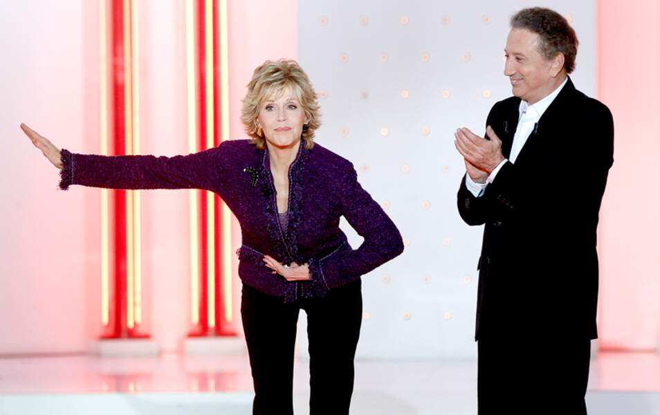 Michel Drucker et Jane Fonda