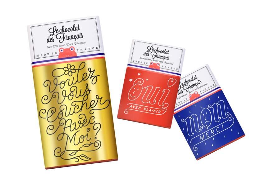 Chocolat, trio Saint valentin, 11€, Le chocolat des Français.