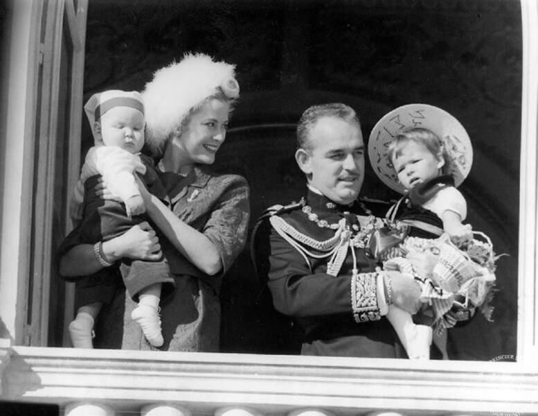 La famille princière au balcon