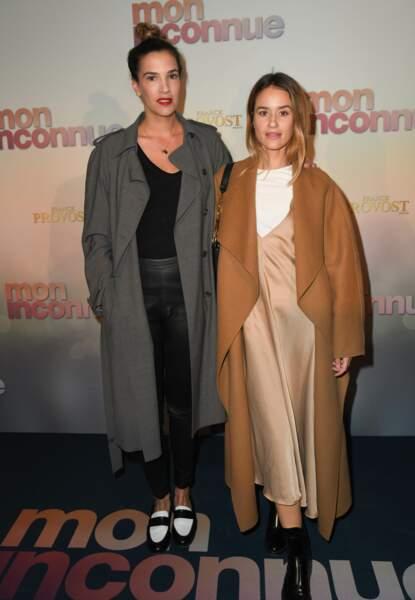 Charlotte Gabris et Alice David à l'avant-première de Mon Inconnue, le 1er avril, à Paris