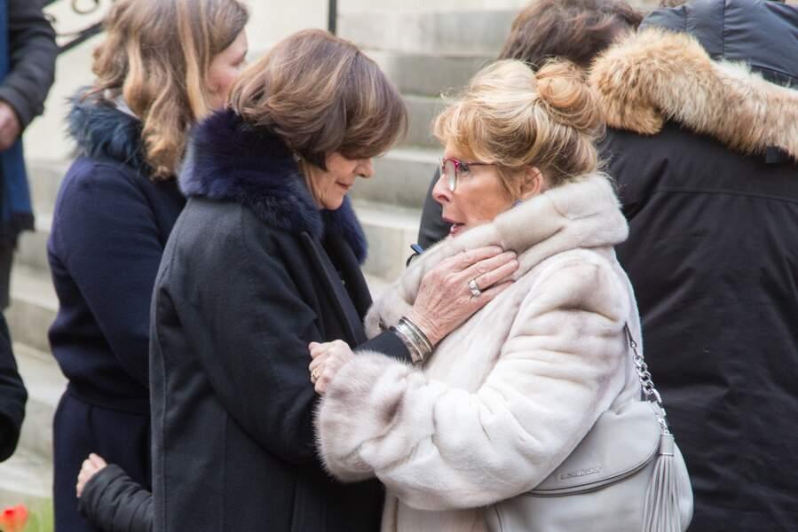Obsèques de Michel Legrand à Paris : Macha Méril
