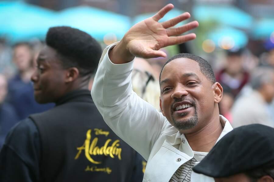 Will Smith est apparu tout sourire à la première londonienne d'Aladdin