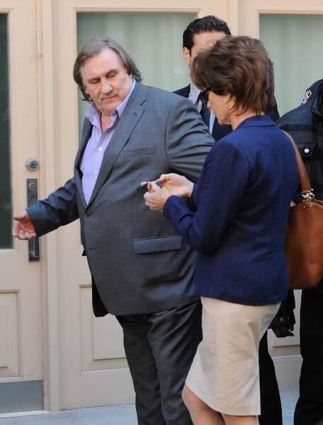 Gérard Depardieu, à fond dans son personnage