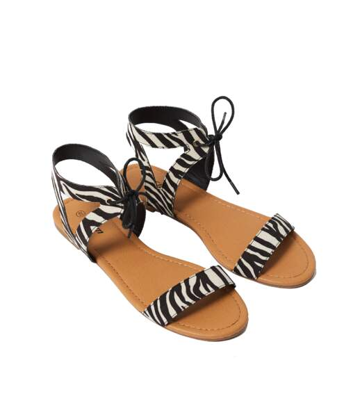 Etam. Sandales en polyester, 24,99 €