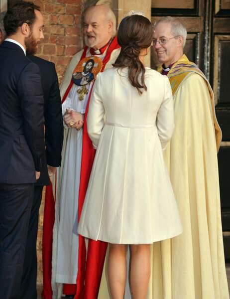 Ils saluent l'archevêque de Canterbury, Justin Welby, qui va baptiser l'héritier de la couronne