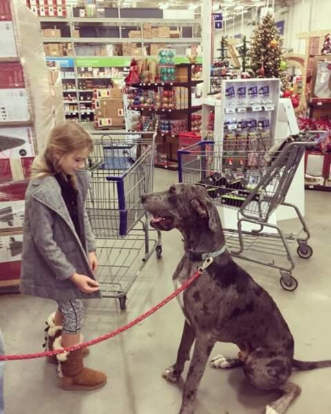 Maddie avec son chien