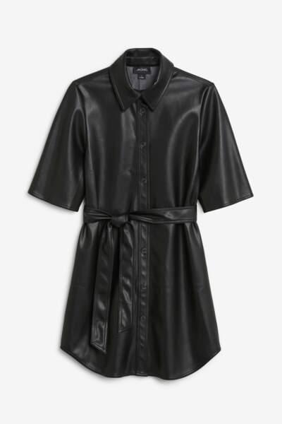 Robe en simili cuir, Monki, 40€