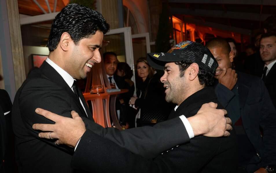 Nasser Al-Khelaifi, le P-DG du PSG, et Jamel Debbouze