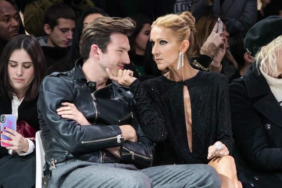 Céline Dion et Pepe Munoz au défilé Alexandre Vauthier, le 22 janvier 2019
