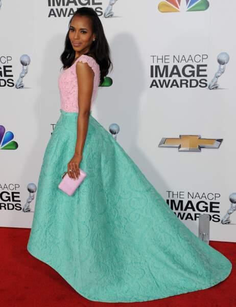 Kerry Washington dans une magnifique création d'Oscar de la Renta