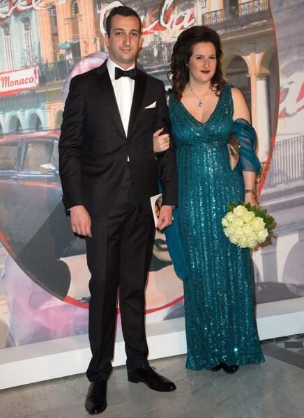 La princesse Faouzia Latifa d'Egypte et le prince Fakhr Eddin Fouad