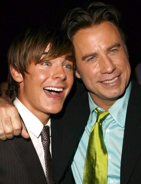 Et deux pour le prix d'un ! Zac Efron et John Travolta