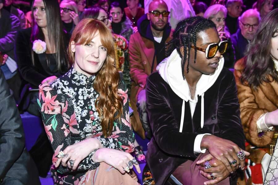 Défilé Gucci : Florence Welch Asap Rocky