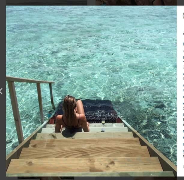 """Comme l'a écrit Bar Refaeli en légende de cette photo : """"Stairway to heaven"""" et on veut bien la croire"""