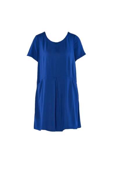 Robe courte bleue, JustFab, 39,95€