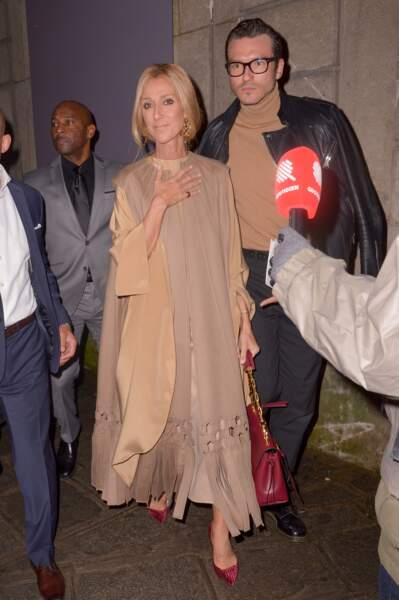 Céline Dion et Pepe Munoz au défilé Valentino