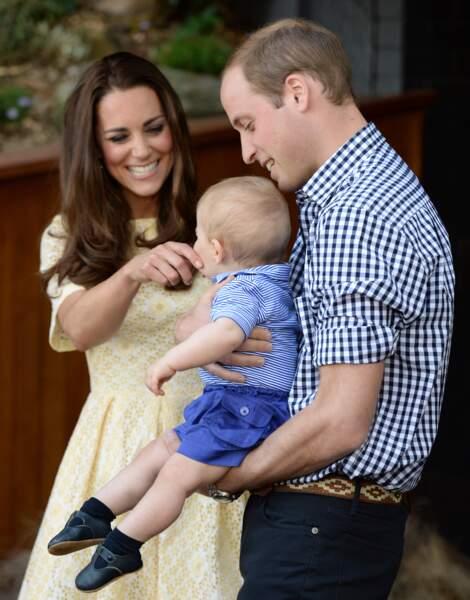 Kate Middleton, William et leur petit prince