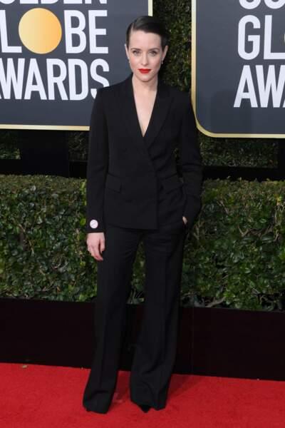 Claire Foy lors de la 75e cérémonie des Golden Globes, le 7 janvier 2018