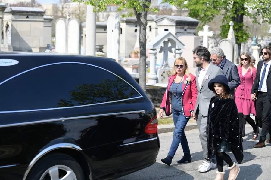 Rosalie Varda aux obsèques d'Agnès Varda au cimetière du Montparnasse