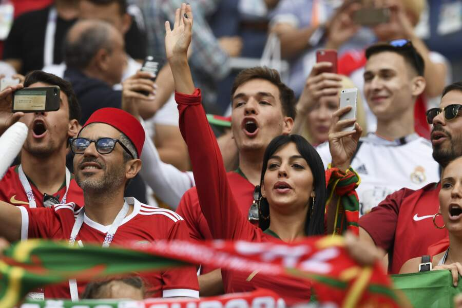 Mondial 2018 : Georgina Rodriguez supporte Cristiano Ronaldo et l'équipe du Portugal pendant la Coupe du monde