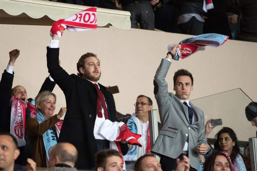 AS Monaco vs Manchester City : Pierre Casiraghi et Louis Ducruet encouragent leur équipe