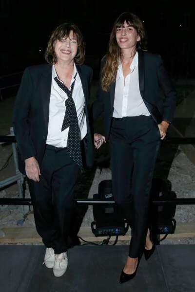 Fashion Week défilé Saint Laurent : Jane Birkin et sa fille cadette Lou Doillon