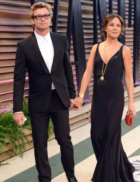 Simon Baker et Rebecca Rigg