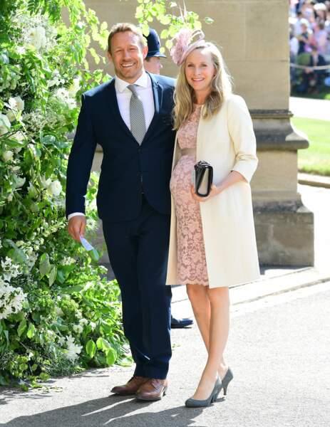 Jonny Wilkinson et Shelley Jenkins au mariage d'Harry et Meghan