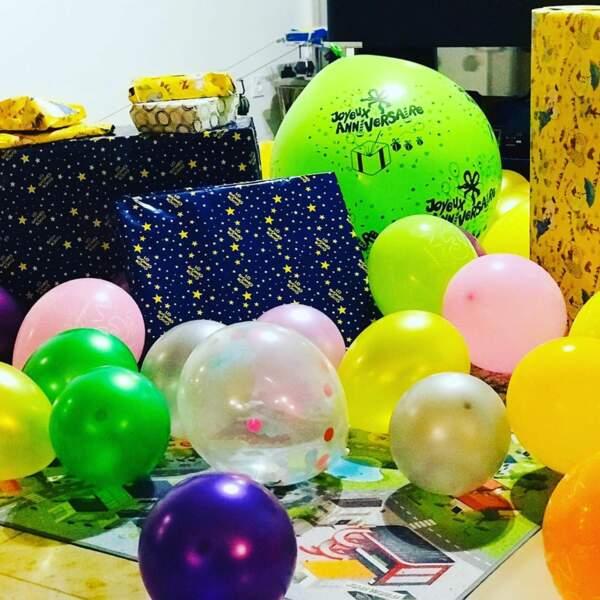 Ingrid Chauvin avait également prévu de nombreux ballons et une farandole de cadeaux