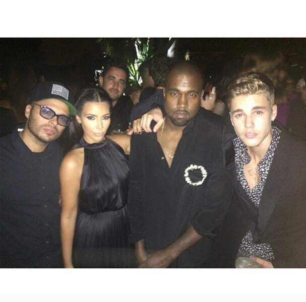 Le magnat des nuits new-yorkaises Richie Akiva, Kim, Kanye et Justin Bieber