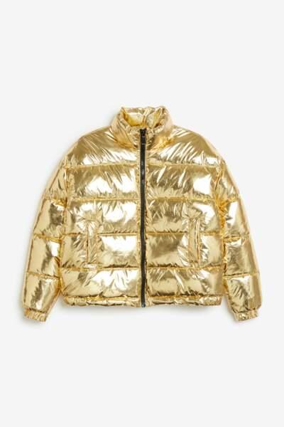 Sélection doudoune : Monki, doudoune gold, 50 euros