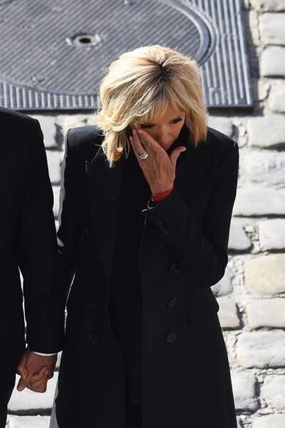 Brigitte Macron lors de l'hommage national à Charles Aznavour