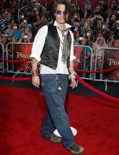 Johnny Depp en mai 2007