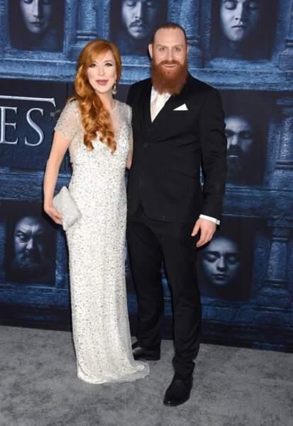 Kristofer Hivju (Tormund Fléau-d'Ogres de Game of Thrones) et sa compagne Gry Molvær