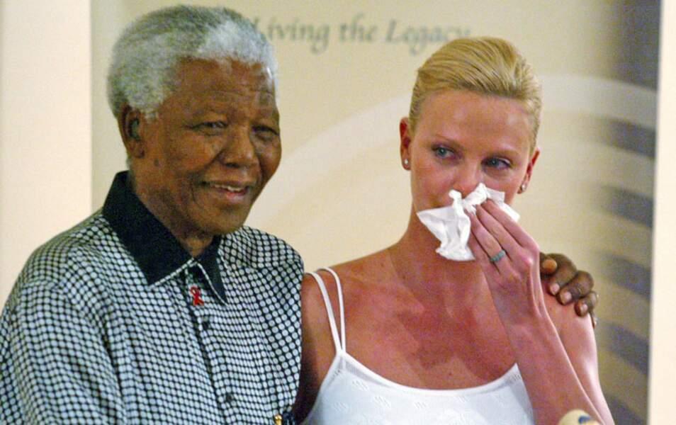 Pour la sud-africaine Charlize Theron, cette rencontre a suscité une émotion toute particulière