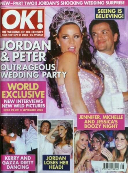 Robes de mariée de stars : Katie Price et Peter Andre en 2005. On commence par quoi ?