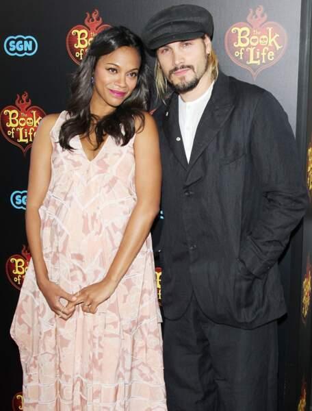 Zoé Saldana et Marco Perego