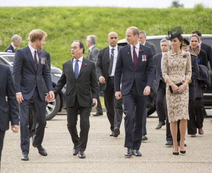 Avec Harry et François Hollande pour la commémoration de la Bataille de la Somme