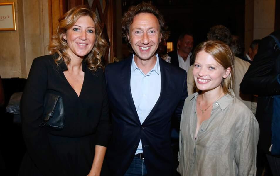 L'écrivain Amanda Sthers, l'animateur Stéphane Bern et l'actrice Mélanie Thierry