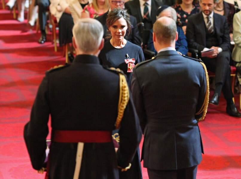 Victoria Beckham a décroché un de ses rares sourires