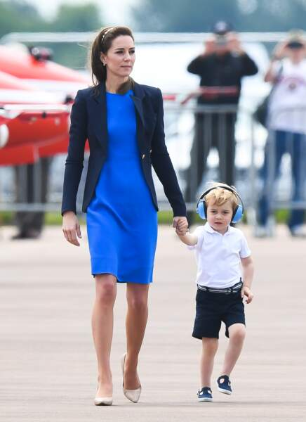 Le Duc et la Duchesse de Cambridge étaient à Fairford en Angleterre pour la Royal International Air Tattoo.