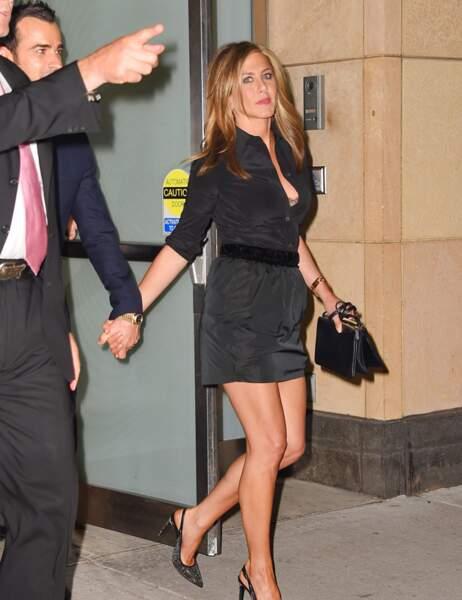 Jennifer Aniston a sorti le grand jeu pour l'avant-première de la nouvelle série de Justin Theroux