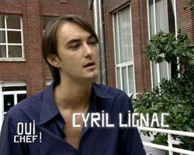 Cyril Lignac en 2005, à l'époque de ses premiers pas médiatiques dans Oui Chef !
