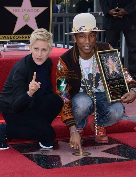 Pharrell Williams et Ellen DeGeneres