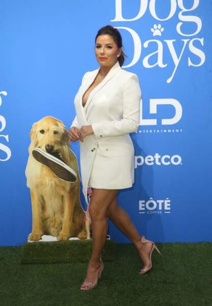 Eva Longoria à l'avant-première du film Dog Days, à Los Angeles