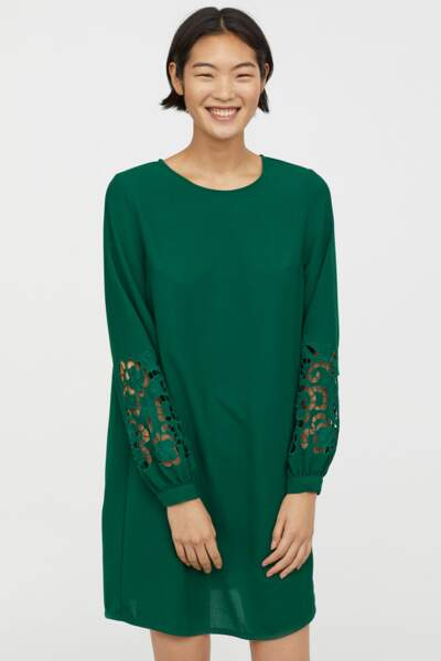Robe verte, H&M,19,99€
