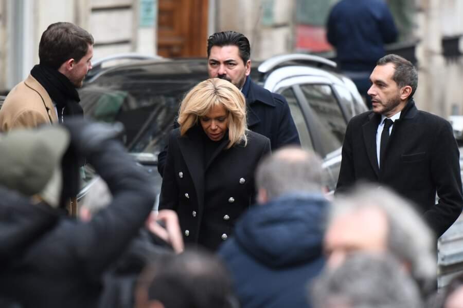 Obsèques de Michel Legrand à Paris : Brigitte Macron