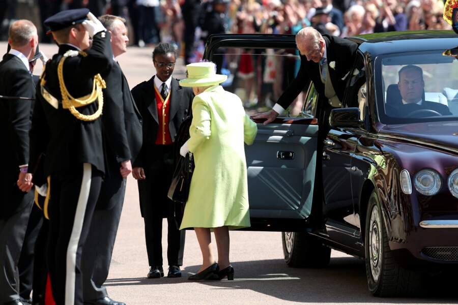 Royal wedding : l'arrivée de la reine Elisabteh II