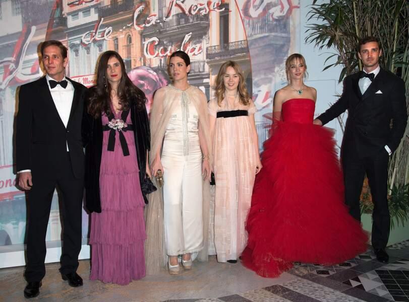 La jeune génération de la famille princière au Bal de la Rose